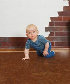 mahogany ripple cork floor safe healthy warm crawling baby room