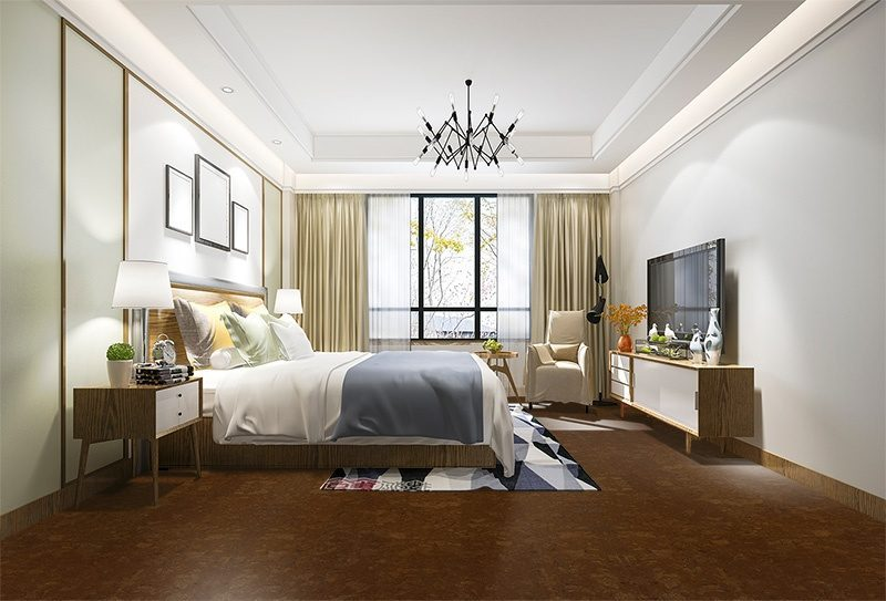 mahogany ripple cork floor style fashion architecture forever designs inspiration bedroom