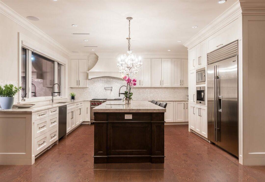 Mahogany Ripple Cork Flooring Kitchen Design Architecture