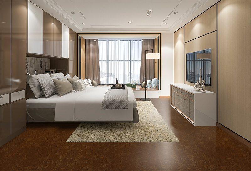 mahogany ripple cork floor beautiful modern kitchen