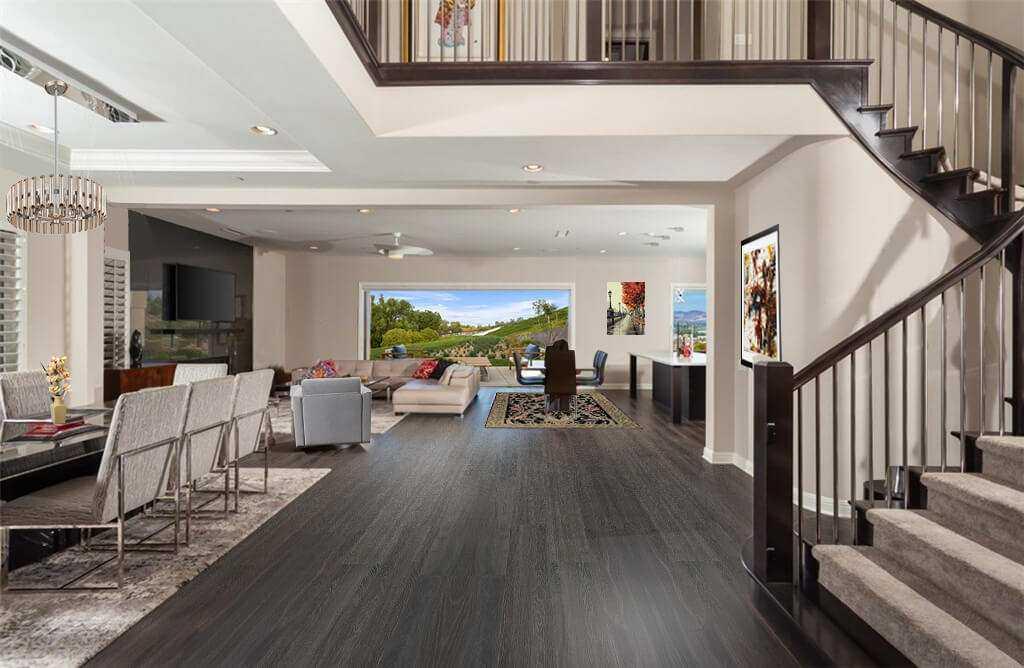 mocha design cork flooring swiss made scratch resistant not fade dark brown modern home