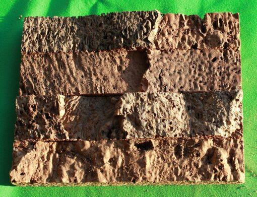 narrow brick cork wall panels tiles sample