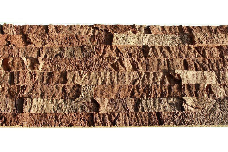 narrow bricks cork wall panels soundproofing