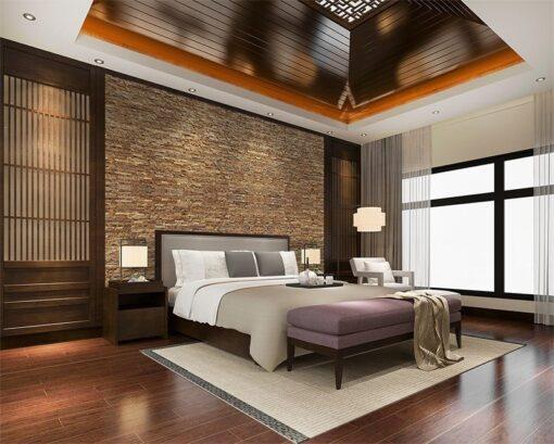 narrow bricks forna cork wall panels sustainable soundproofing bedroom room