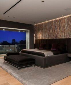 narrow bricks ledge stone cork wall panels soundproof a bedroom