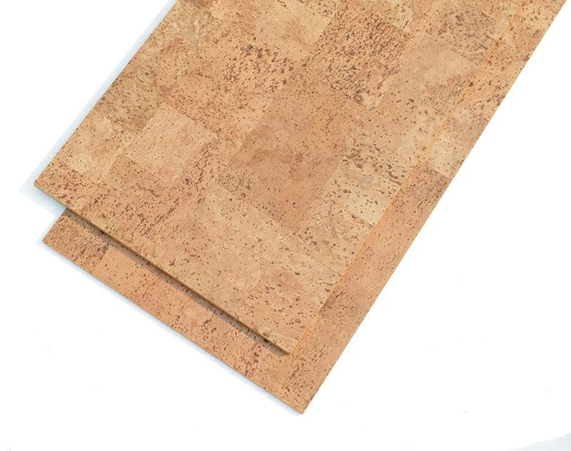 Natural Cork Tiles Leather 8mm 18 Per Carton