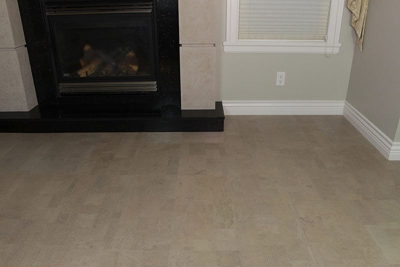 Gray Leather cork flooring
