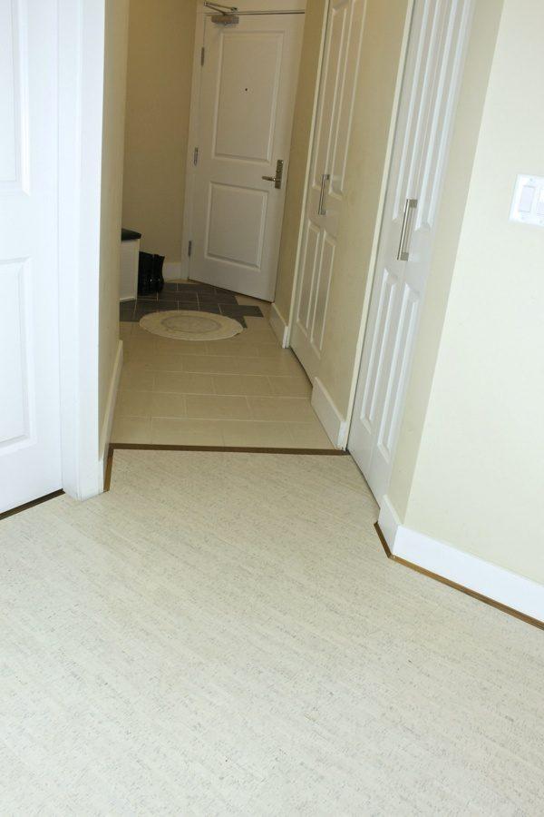 off white cork flooring bleached birch entrance