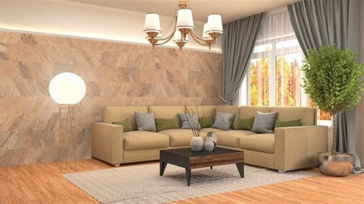 orgclay cork wall covering tiles interior living room