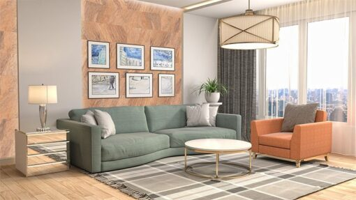 orgclay cork wall tiles interior living room