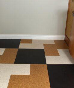 parquet flooring forna cork jet black golden beach bleached birch