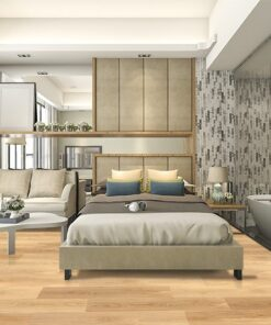 pine wood fusion cork floating flooring luxury suite hotel bedroom health living company industrial flooring