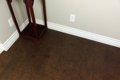 plank flooring salami ERC cork piano room