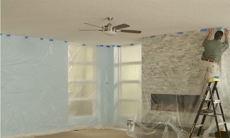 prepare to remove popcorn ceiling texture for cork ceilig tiles