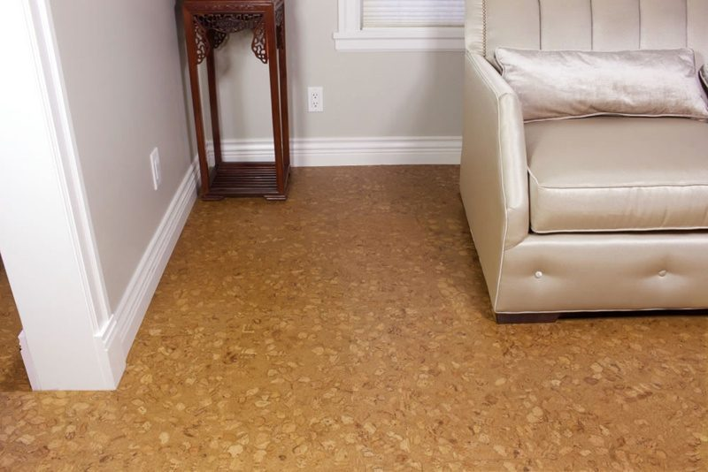 resilient floors sand marble 4mm cork tiles living room - iCork ...