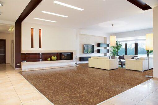 rocky bush beveled edges cork planks interior design modern area in spacious house forna