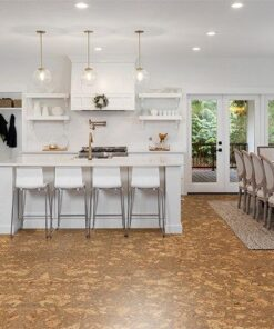 rococo forna cork floor in beautiful kitchen dining room luxury home dining room