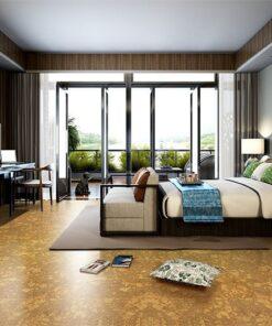 rococo forna cork flooring bedroom natural colour