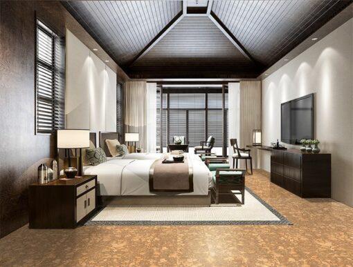 rococo forna cork flooring luxury bedroom walking comfort