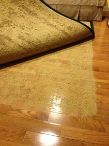 rubber backing rugs harm flooring