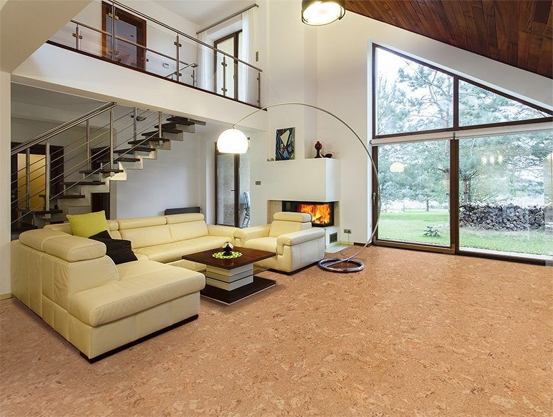Salami Cork Floor Designers House Entresol Ious Living Room