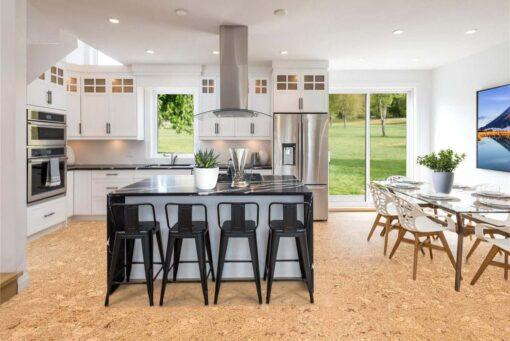 salami cork floor modern kitchen interior