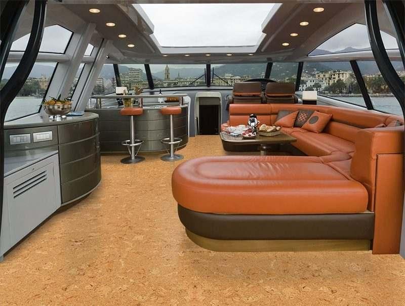 Salami Cork Tiles Forna Luxury Yacht Flooring Boatyard Boat