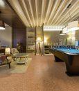 salami forna cork floor interior luxury living room pool table