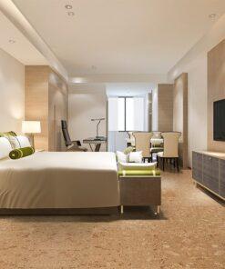 salami icork cork floor hotel bedroom natural colour