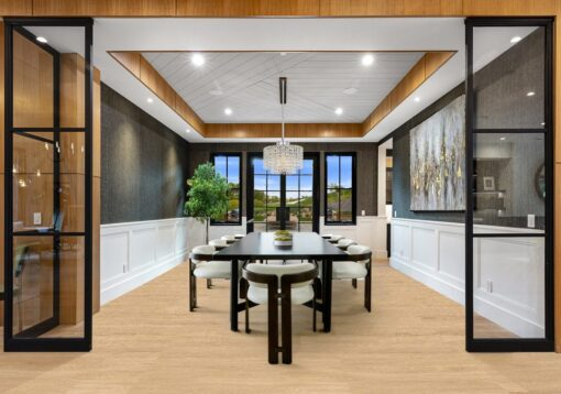 sandstorm swiss design cork flooring modern dinning idea