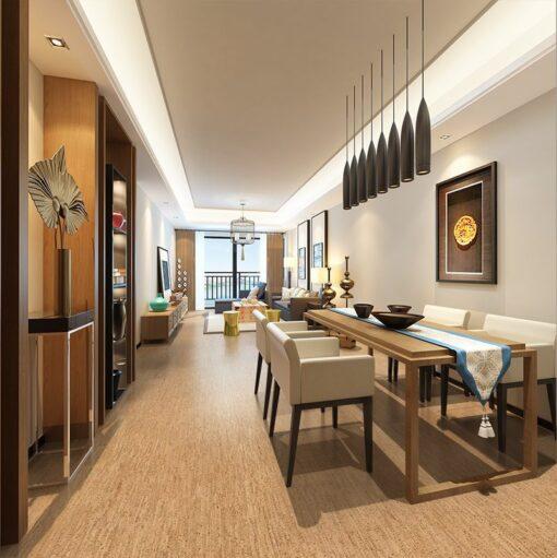 silver birch cork flooring modern living room