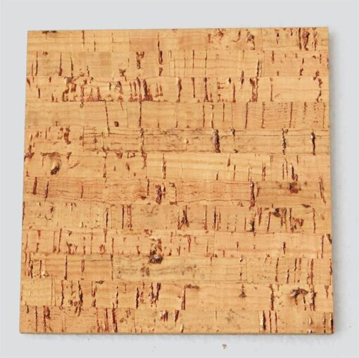 silver birch cork tile sample