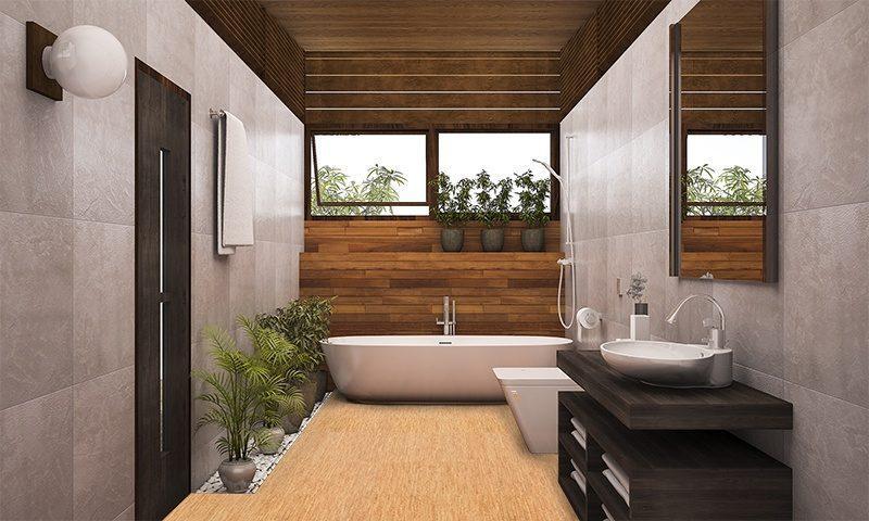 silver birch forna cork modern bath room