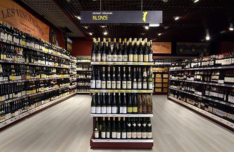silver pine cork flooring fusion wine store supermarket