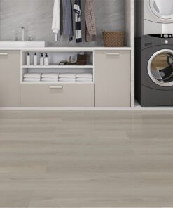 silver pine fusion cork flooring forna laundry room in basement