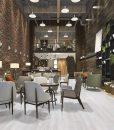 silver pine fusion cork flooring forna loft luxury hotel reception