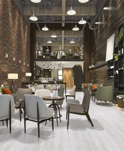 silver pine fusion cork flooring forna loft luxury hotel reception
