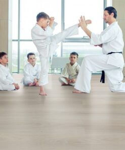 silver pine fusion cork flooring karate dojo training room