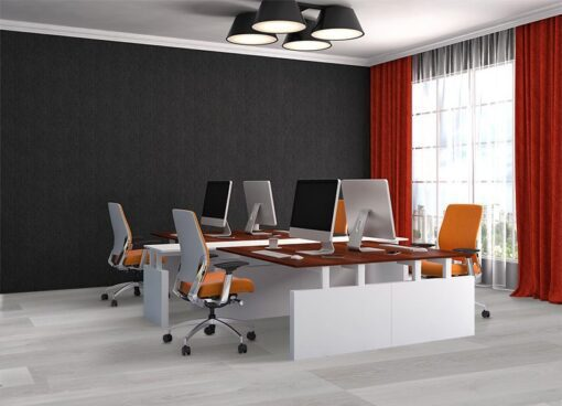 silver pine fusion cork flooring office interior light