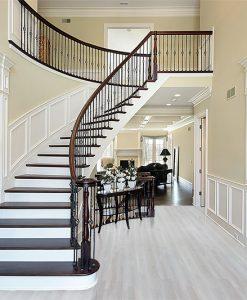 silver pine fusion plank flooring cork foyer stairway