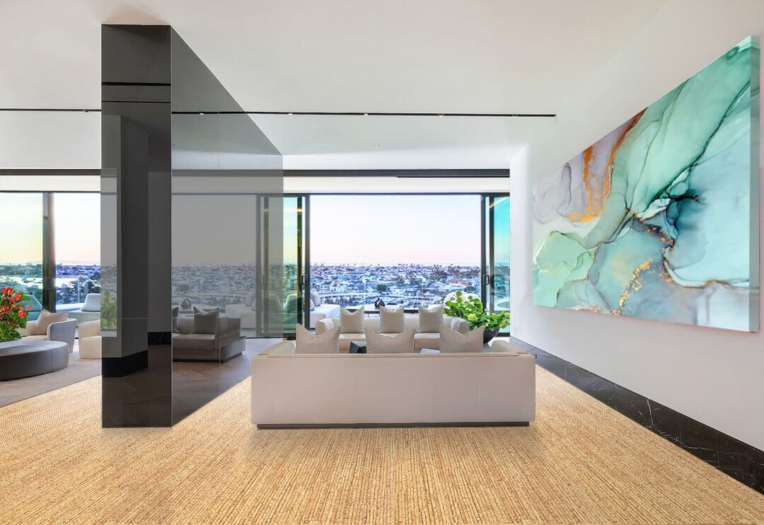 sisal forna cork flooring house interior living room