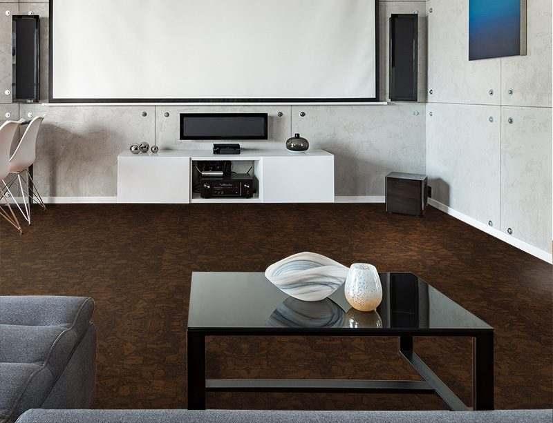 sunny ripple cork flooring health home theatre interior design soundproof