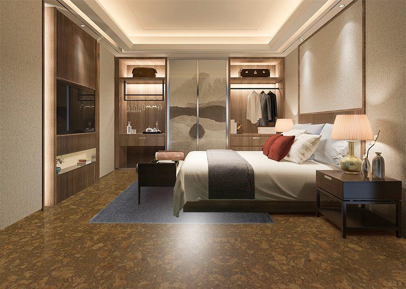 tasmanian burl cork flooring environmentally friendly flooring bedroom walk in closet