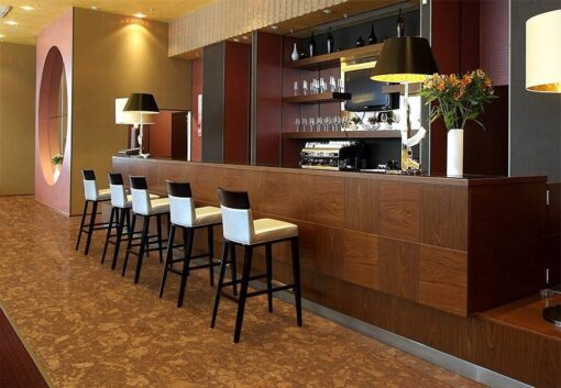 tasmanian cork resilient flooring bar wine restaurant safy floor