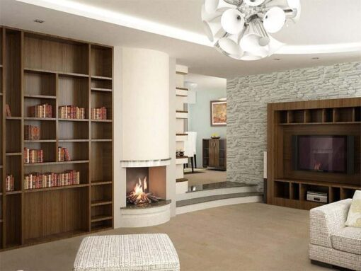 taupe leather forna cork floor 3d rendering living room interior design