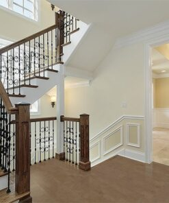 taupe leather forna cork floor luxury foyer new construction home
