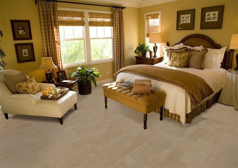 Taupe Leather Forna Cork Floor Ious Luxury Bedroom Lounge Area