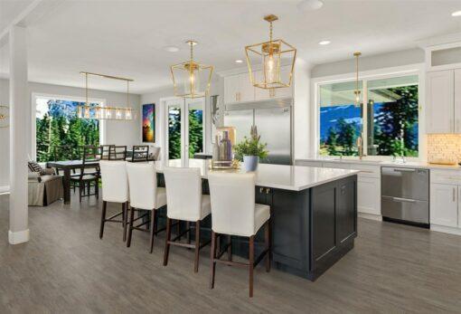 teak fusion cork floor kitchen interior design architecture stock imagesphotos