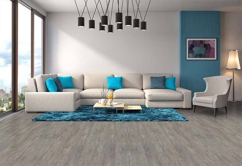 Teak Fusion Cork Floor Modern Living Room Interior Design Sofa Rug