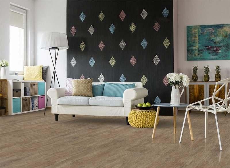 teak fusion cork floor spacious living room double sofa crystal